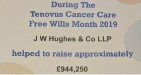 JW Hughes helps Tenovus Cancer Care